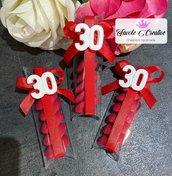 Confezione bomboniera Gessetto numero 30 compleanno festa