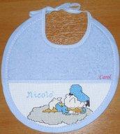 "Bavaglino ""Baby Paperino 2"" -punto croce-"