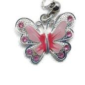 Collana catena con ciondolo a farfalla