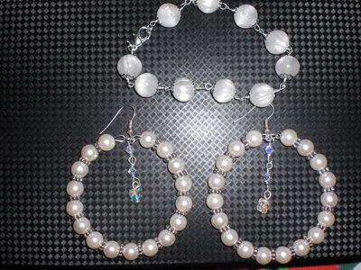 parure perle e swarovski