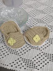 Sandaletti neonato 100% cotone