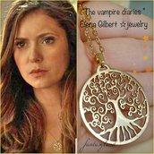 Collana albero della vita elena gilbert the vampire diaries vampiri oro regalo acciaio