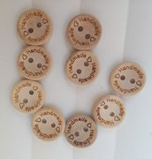 set 50 bottoncini legno handmade decorazioni bomboniere sacchettini scrapbooking