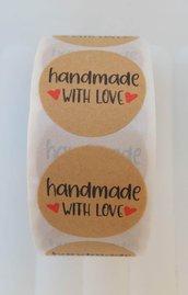 set 500 adesivi handmade decorazioni bomboniere sacchettini scrapbooking fai da te