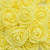 set 25 roselline in crepla fiori decorazioni bomboniere sacchettini fai da te