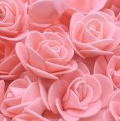 set 10 roselline in crepla fiori decorazioni bomboniere sacchettini fai da te