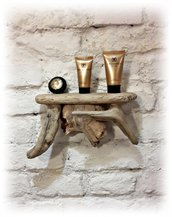 Mensola da parete con legno di mare