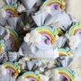 bomboniera con arcobaleno nascita e battesimo in fimo
