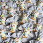 bomboniera completa con leoncino multicolor