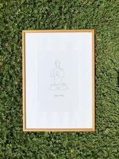 Quadro yoga lotus pose