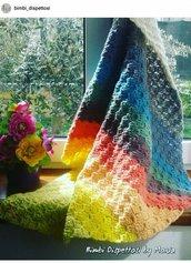 Copertina ad uncinetto, in lana, fatto a mano