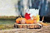 Centrotavola autunno zucche e foglie