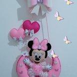 Fiocco nascita topolina Minnie stella e luna .
