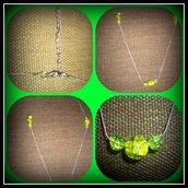 Collana con perle crackle