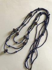 Collana blu lunga