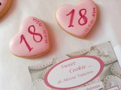 gadget 18 anni compleanno evento personalizzati cuore unico fondo alimentare sweet table dolci compleanno allestire festa battesimo