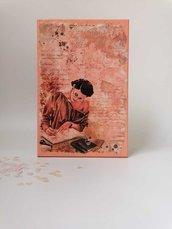 "Quadretto decoupage ""Poetessa"""