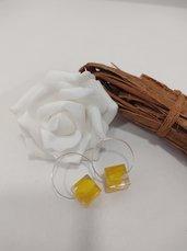 Orecchini cerchio donna orecchini resina orecchini fiori pendenti donna gioielli resina
