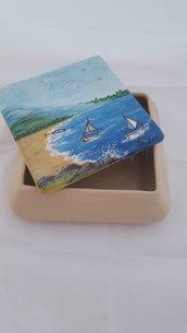 Portagioie (tema mare) ceramica