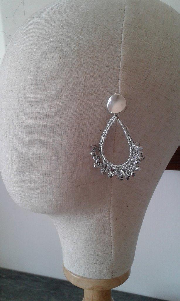 Orecchini crochet e perline- Aida