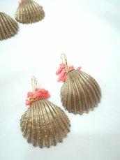 Conchiglia oro corallo di bambù corti leggeri