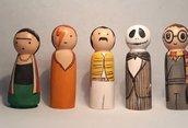 Miniature in legno personaggi famosi