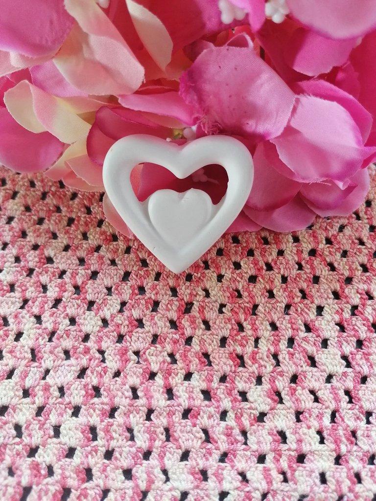Stampo doppio cuore in gomma siliconica professionale da colata