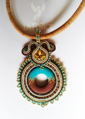 COLLANA TURCHESE SOUTACHE
