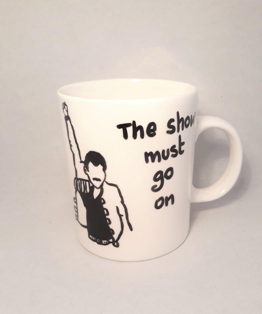 Tazza Mug Freddie Mercury fatta a mano