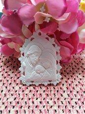 Icona Sacra Famiglia in gesso ceramico profumato