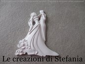 Lotto di 20 calamite in polvere di ceramica a forma di sposi