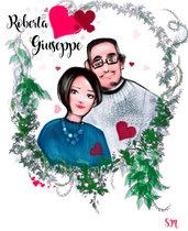 Ritratto digitale, ritratto cartoon, ritratto da foto, regalo di coppia, ritratto di coppia, idea regalo compleanno, regalo per amica, ritratto di famiglia, regalo unico e speciale, ritratto
