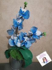 Orchidea in gomma eva