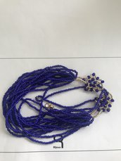 Collana corta blu