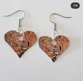 Orecchini a cuore di Klimt