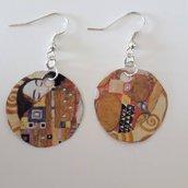 Orecchini con opera di Klimt