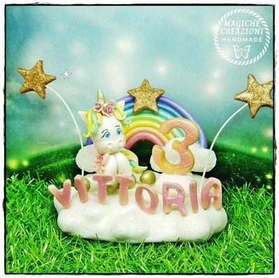 Cake topper unicorno