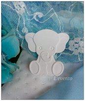 Gessetto elefante bomboniere segnaposto