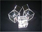 Bomboniera in plexiglass 6x6x6