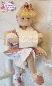 Bambola portarotolo rosa antico