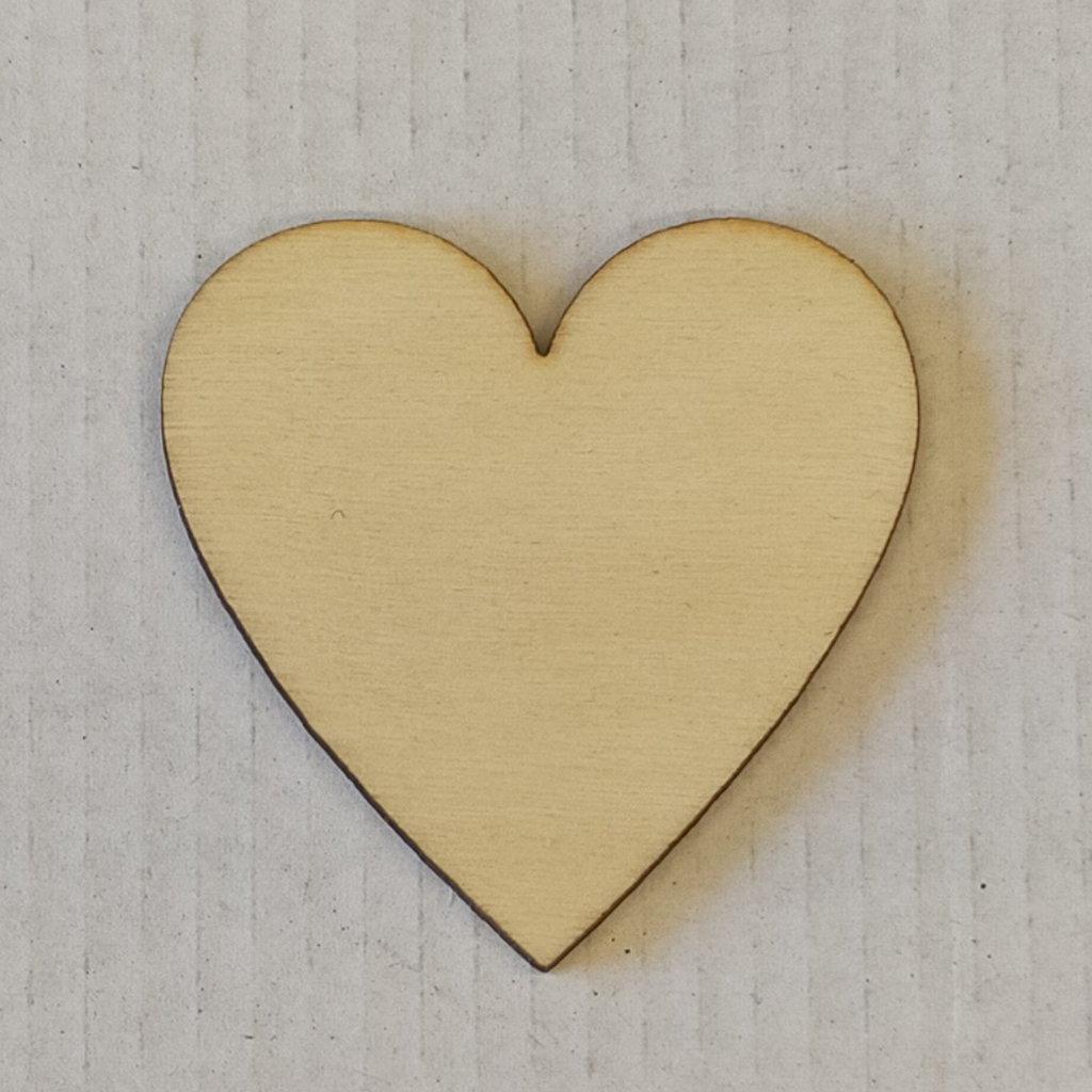CUORI IN LEGNO, taglio laser, confezione da 10 pezzi