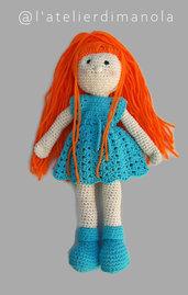 """Bambola Amigurumi """"Pel di Carota"""""""