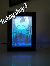 """Light box """"solochisognapuovolare"""""""