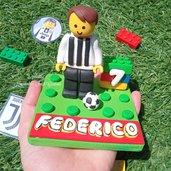 Statuina lego Juventus compleanno fimo