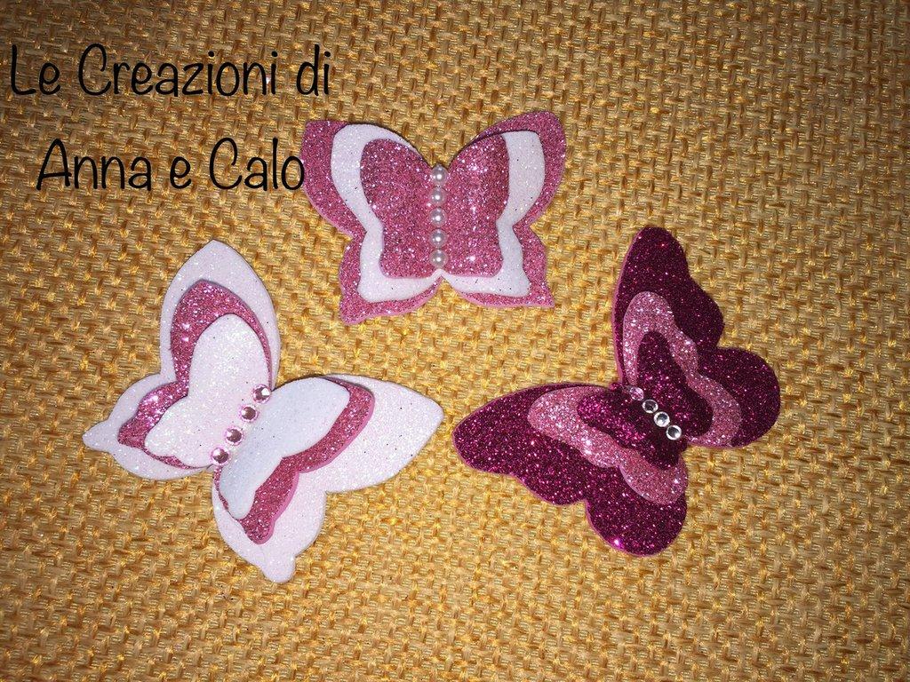 Farfalle 3D in gomma Eva calamita