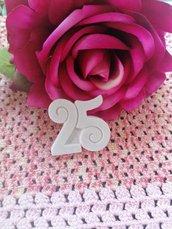 Stampo numero 25  in gomma siliconica professionale