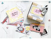 Happy Box_ MY HAPPY PREGNANCY_ Album/Diario Gravidanza artigianale_ kit creativo