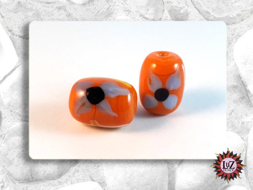 50 Perle vetro - Barile  - 18 x 13,5 mm - (pack: 50 pezzi)