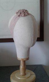 Fascia  elastica in pizzo con fiore in feltro- Diana