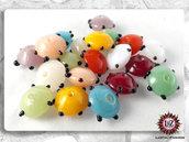 100 Perle Vetro: Disco Piatto - 15 x 8,5 mm - Creazione Gioielli